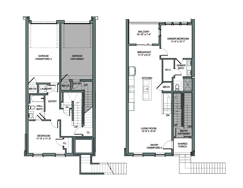 Floor Plans - Interior Unit. New Home in Alpharetta, GA