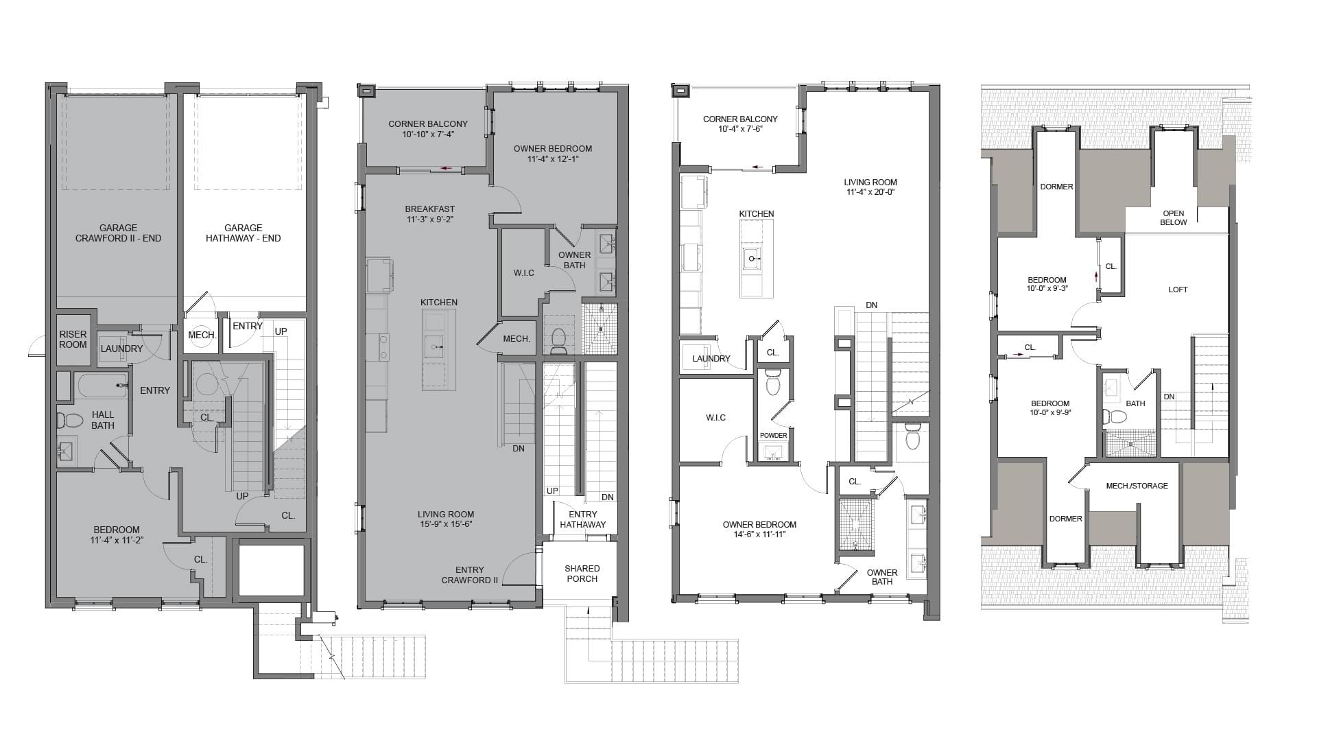 Floor Plans - End Unit L. 3br New Home in Alpharetta, GA