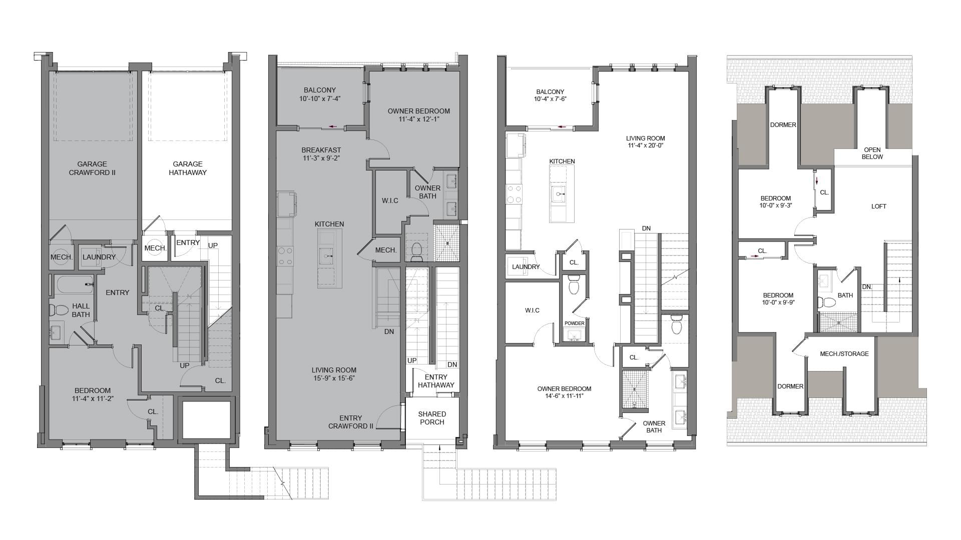 Floor Plans - Interior Unit. 3br New Home in Alpharetta, GA