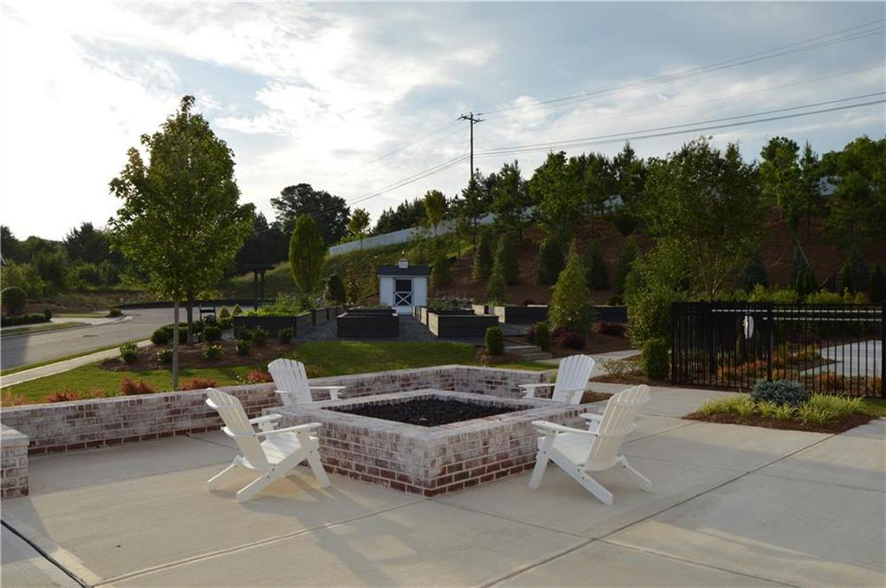 gather around the fire pit. 3br New Home in Canton, GA