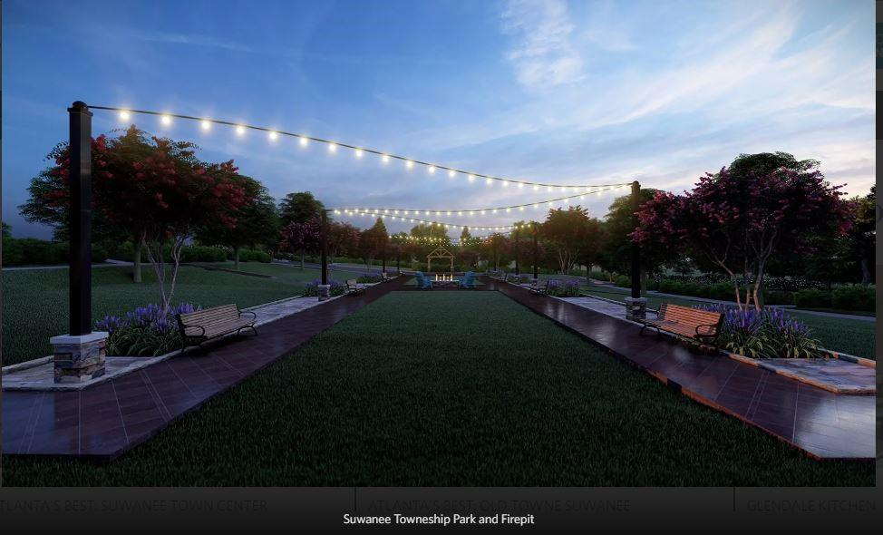 **To Be Built -Rendering only- Future Amenity for Suwanee Towneship Residents to enjoy- Multiple Park settings include, Gazebo, Firepit **. New Home in Suwanee, GA