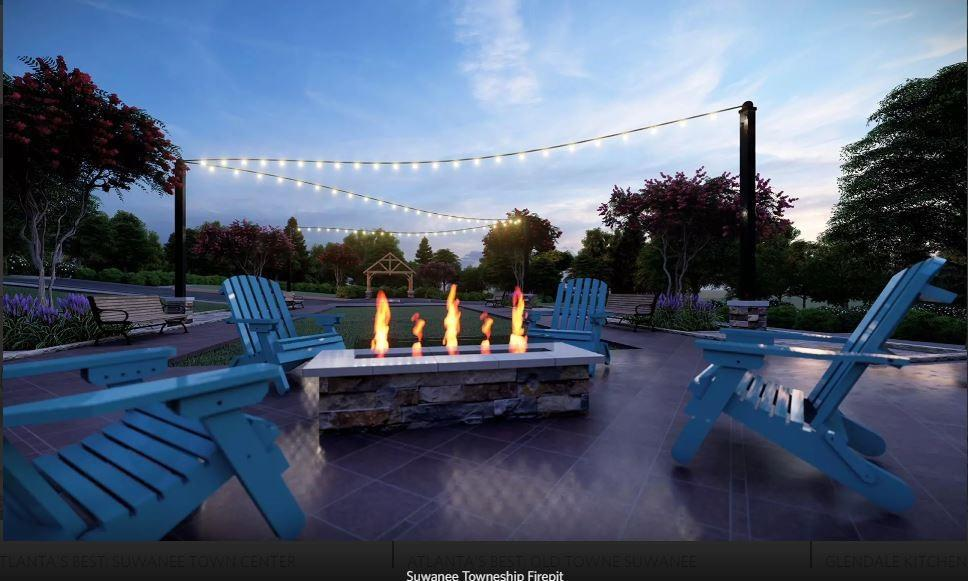 **To Be Built -Rendering only- Future Amenity for Suwanee Towneship Residents to enjoy- Multiple Park settings include, Gazebo, Firepit **. Suwanee, GA New Home