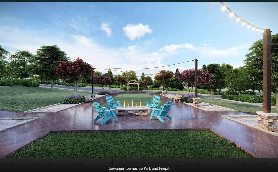 **To Be Built -Rendering only- Future Amenity for Suwanee Towneship Residents to enjoy- Multiple Park settings include, Gazebo, Firepit **. 3br New Home in Suwanee, GA