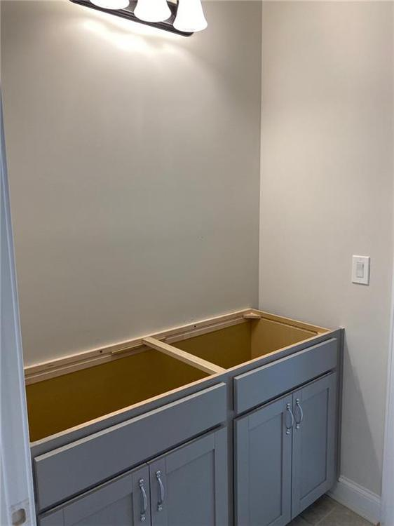 Bath 3 Sink area. New Home in Alpharetta, GA