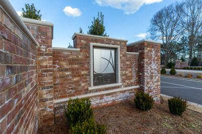Atley Community Monument. Atley New Homes in Alpharetta, GA