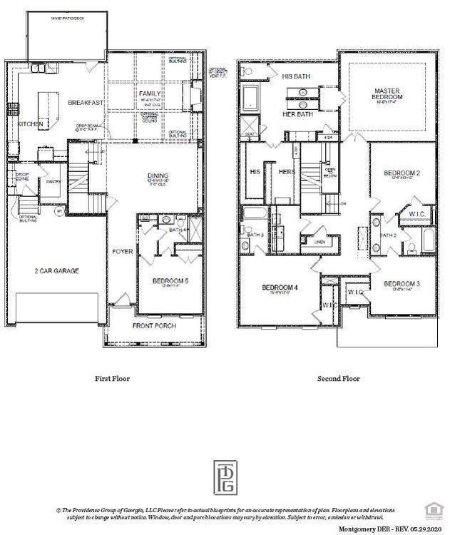 Montgomery Base Floor Plan . 5br New Home in Alpharetta, GA