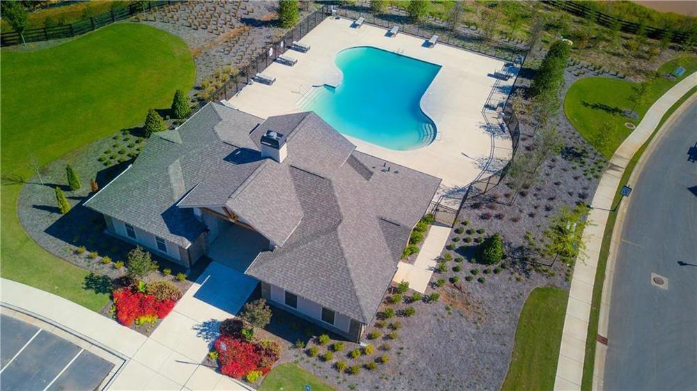 Community Pool and Clubhouse. New Home in Alpharetta, GA