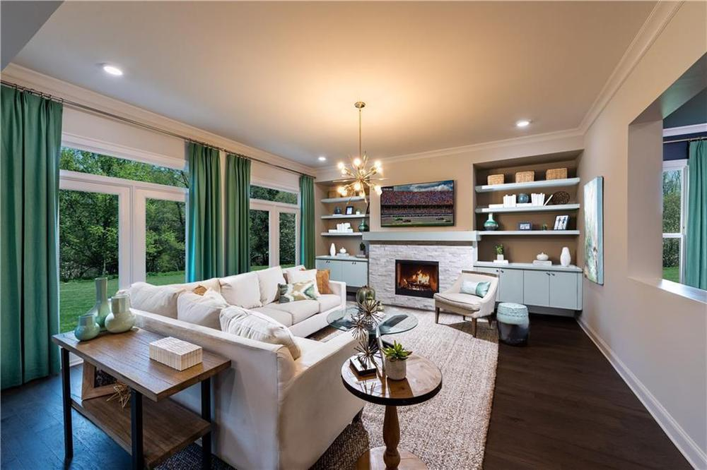 Photo of a model home with same floor plan - meant for representation only . 3,472sf New Home in Alpharetta, GA