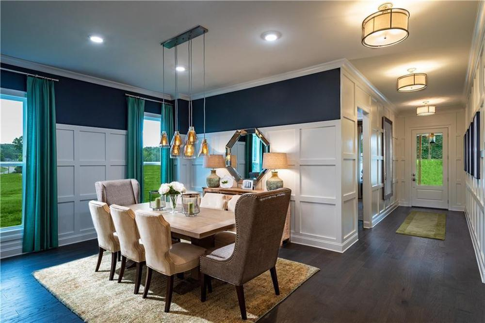 Photo of a model home with same floor plan - meant for representation only . Alpharetta, GA New Home