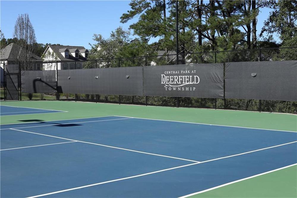 Community Tennis Courts. 3,472sf New Home in Alpharetta, GA