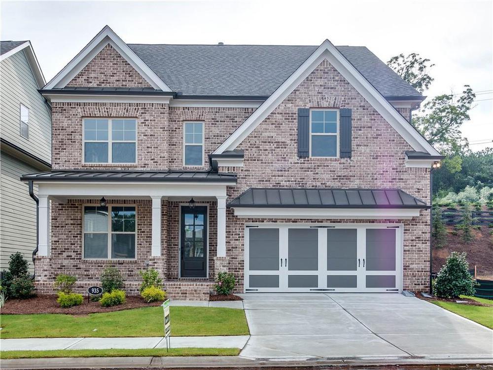 Not actual home. Photo of previously built Calhoun plan. 1020 Pennington View Lane, Alpharetta, GA