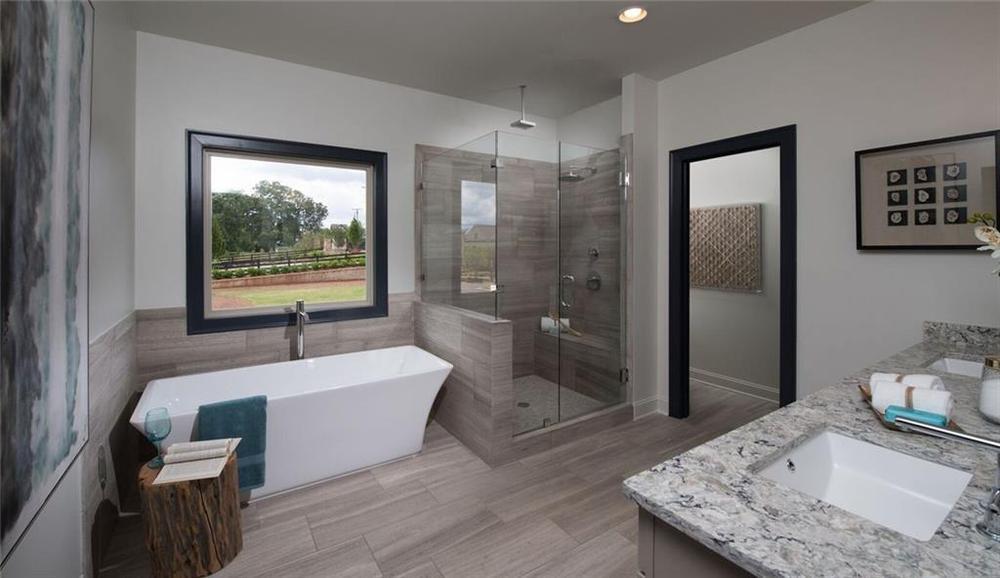 Not actual home. Photo of previously built Calhoun plan. Alpharetta, GA New Home