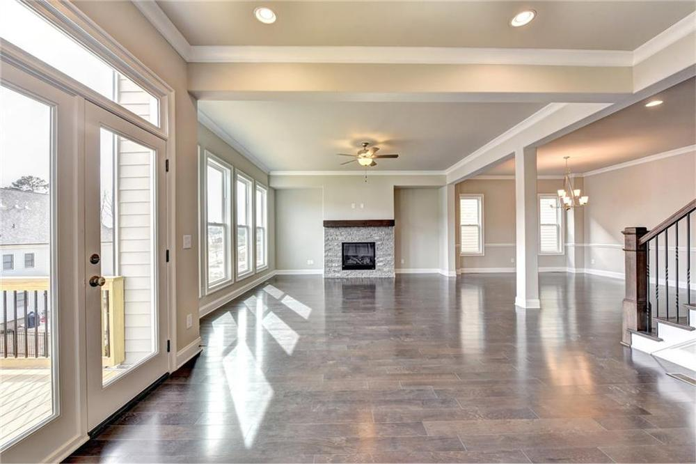 Not actual home. Photo of previously built Montgomery floorplan. . 3,472sf New Home in Alpharetta, GA