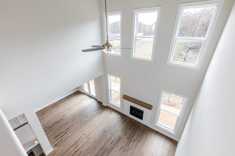 Not actual home. Photo of previously built Calhoun floorplan. Alpharetta, GA New Home