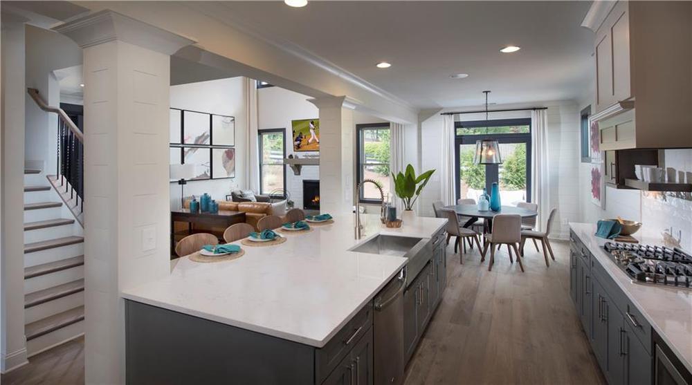 Model home of same floorplan. New Home in Alpharetta, GA