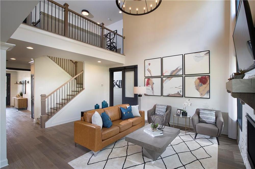Model home of same floorplan. Alpharetta, GA New Home