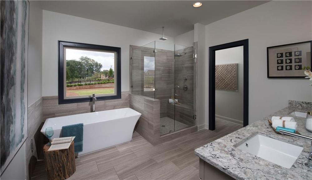 Model home of same floorplan. 1010 Pennington View Lane, Alpharetta, GA