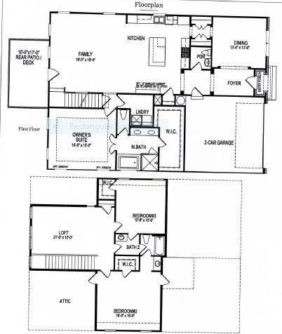 open floor plan , also available on a basement or with a third car garage. Canton, GA New Home