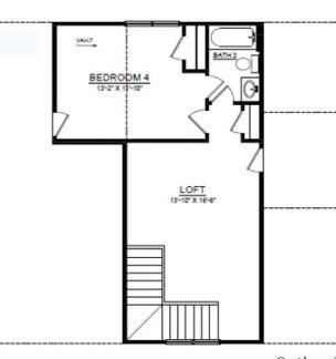 Second floor adds fun private space to this ranch. 3br New Home in Canton, GA