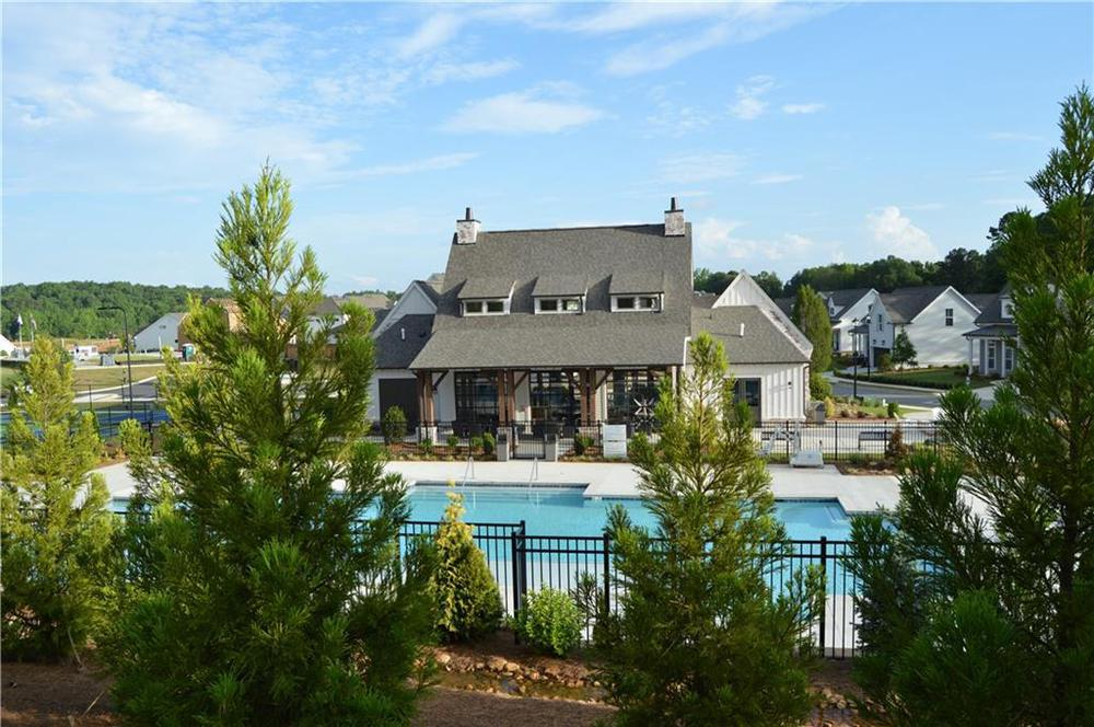 relax at the pool with family and friends. New Home in Canton, GA