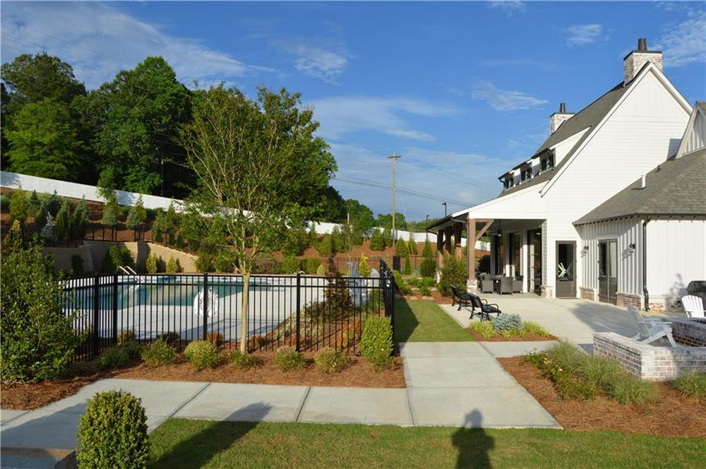 relax at the pool. New Home in Canton, GA