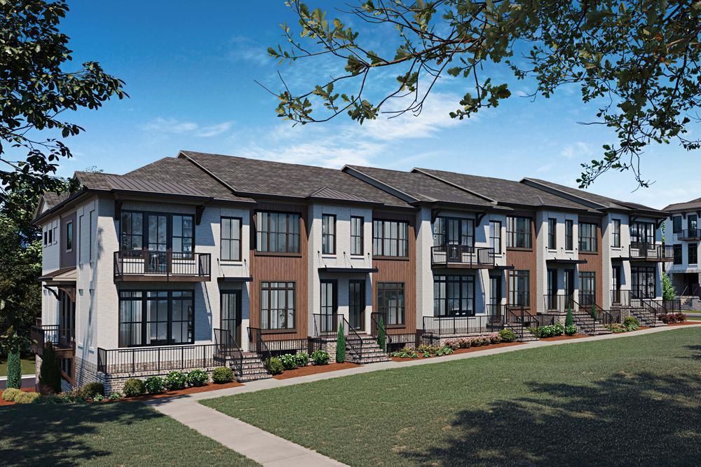 Ecco Park Townhome Rendering. Ecco Park New Homes in Alpharetta, GA