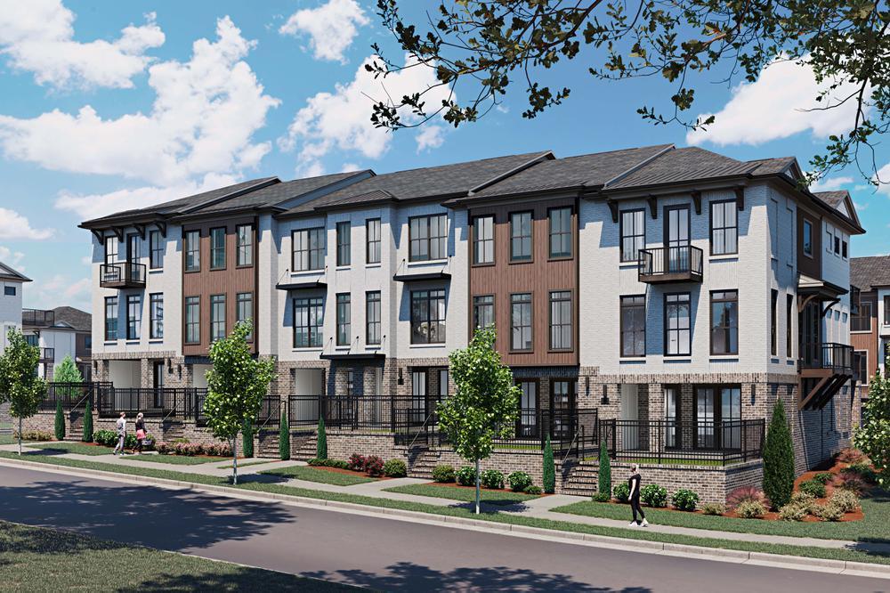 Ecco Park Townhome Rendering. New Homes in Alpharetta, GA