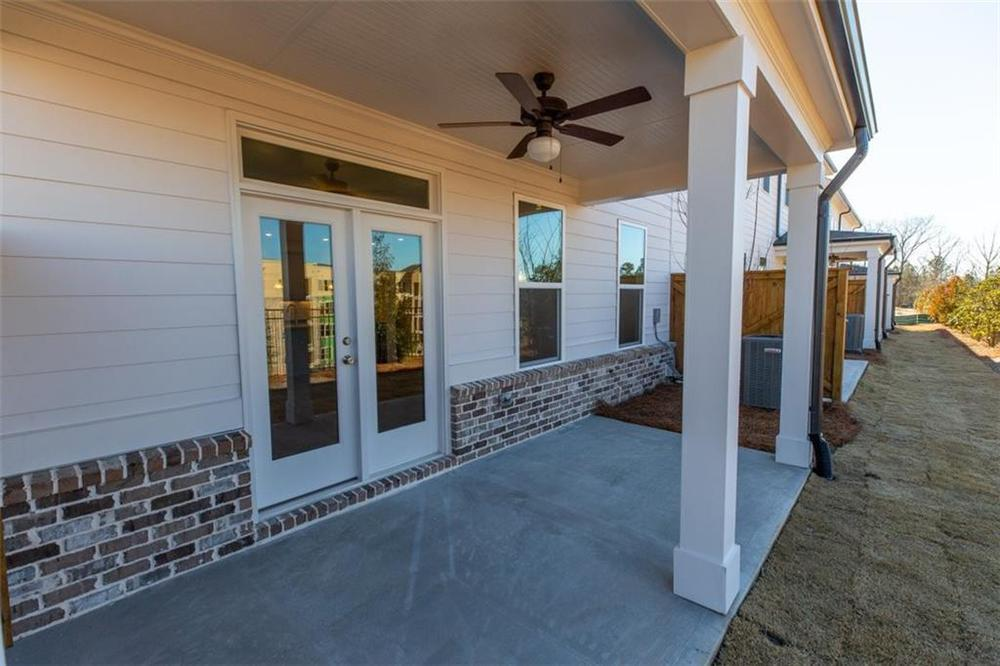 Lot #29 Covered Patio . 2,141sf New Home in Duluth, GA
