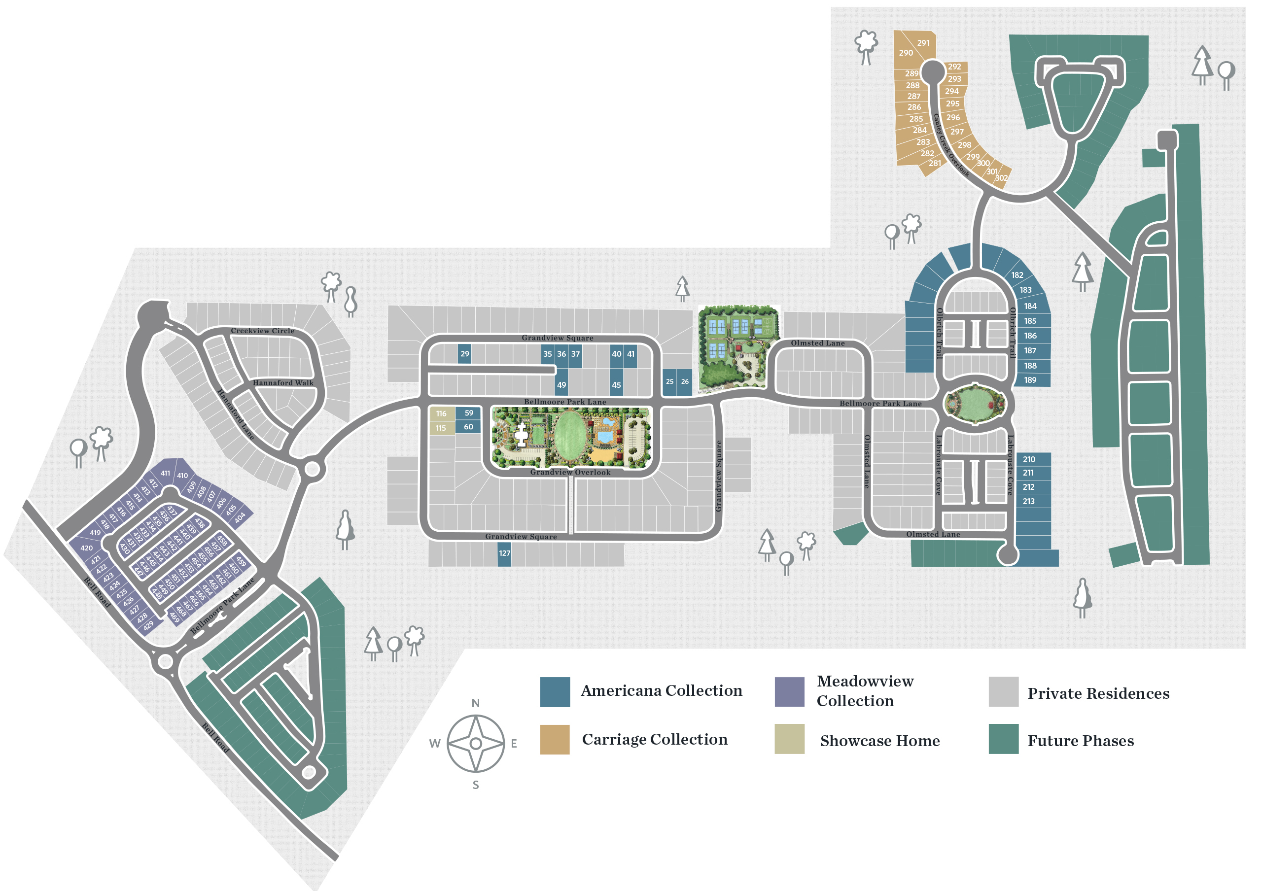 Johns Creek, GA Bellmoore Park New Homes from The Providence Group