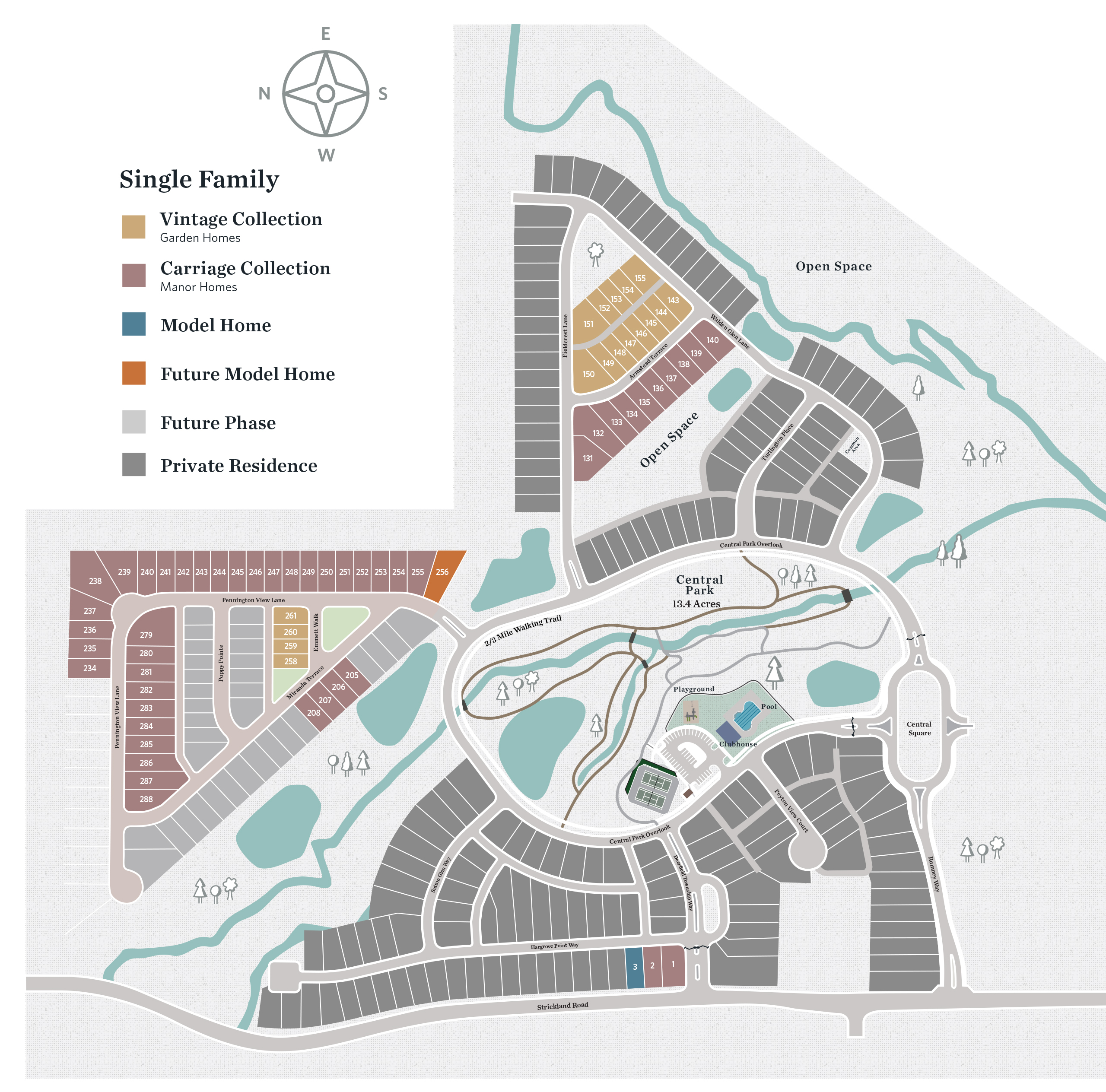 Alpharetta, GA Central Park at Deerfield Township New Homes from The Providence Group